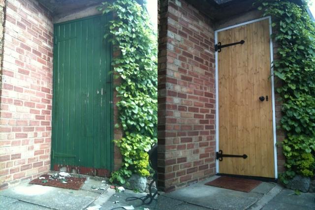 Carpentry, doors, frameworks, timber
