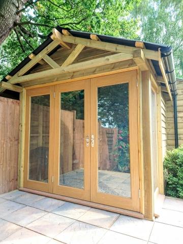 Wooden outdoor office